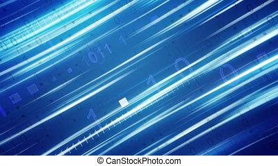 bleu, binaire, raies, fond, loopable