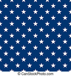 bleu, blanc, seamless, étoiles, &
