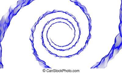 bleu, blanc, spirale