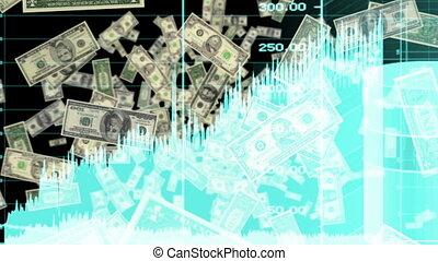 bleu, boucle, argent, graphiques