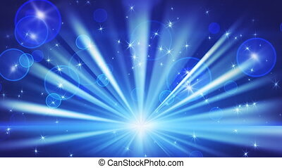 bleu, boucle, lumières, étoiles, briller
