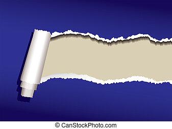 bleu, boucle, papier
