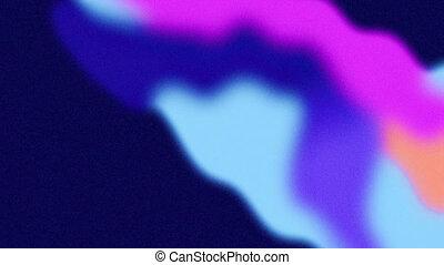 bleu, boucle, seamless, vagues, vibrant, rose, animation, orange, lisser, écoulement