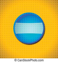 bleu, bouton, cadre