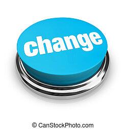 bleu, bouton, -, changement