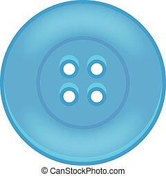 bleu, bouton, vecteur, illustration