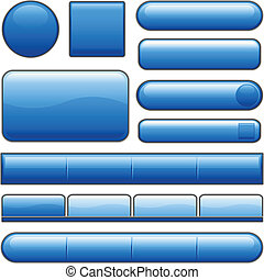 bleu boutonne, lustré, internet