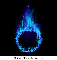 bleu, brûler, anneau
