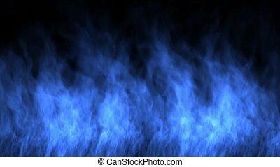 bleu, brûler, wall.