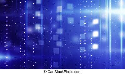 bleu, brillant, technologie, dos, boucle