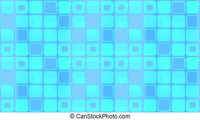 bleu, carrés, animé, fond