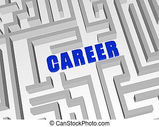 bleu, carrière, labyrinthe