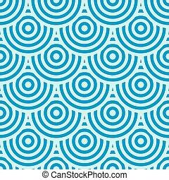 bleu, cercles, fond
