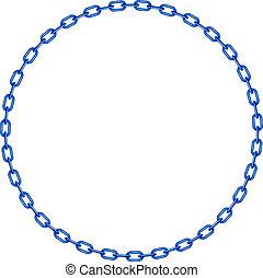 bleu, chaîne, cercle, forme
