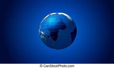 bleu, champ, globe