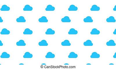 bleu, channel., animation, nuage, fond, écoulement, alpha, blanc, boucle