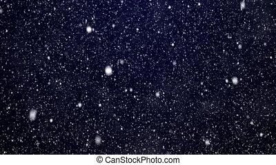 bleu, chute neige, fond