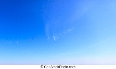 bleu, ciel clair, fond