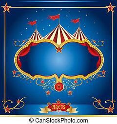 bleu, cirque, prospectus