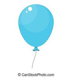 bleu, clair, balloon