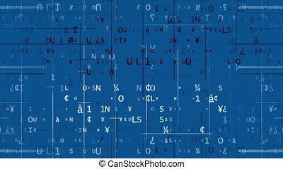 bleu, code, contre, fond, numérique