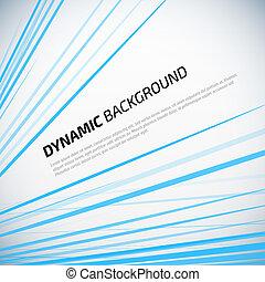 bleu, coloré, résumé, dynamique, arrière-plan., vecteur, stripes.