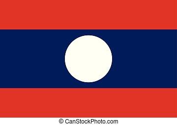 bleu, color), pays, drapeau national, (red, laos, blanc