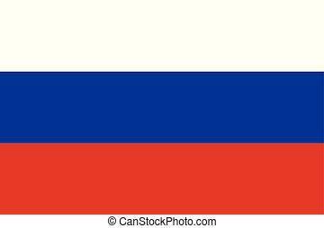 bleu, color), pays, national, (white, drapeau, russie, rouges