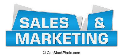 bleu, commercialisation, sommet, carrés, ventes