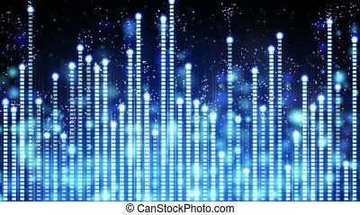 bleu, compensateur, musique, seamless, boucle