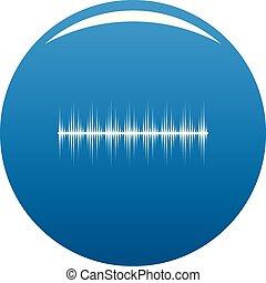 bleu, compensateur, vecteur, numérique, icône
