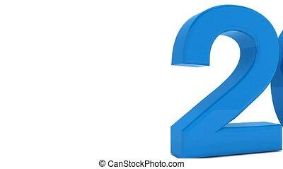 bleu, concept, -, animation, année, nouveau, 2017, changement, 3d