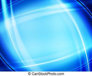 bleu, conception abstraite, fond