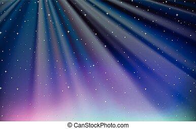 bleu, conception, ciel, fond, nuit