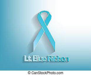 bleu, conscience, lt., ruban