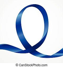 bleu, conscience, ruban