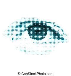 bleu, couleur, eps, humain, numérique, 8, eye.