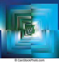 bleu, couleur, modèle, arrière-plan., vector., mosaïque