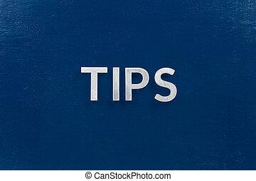 bleu, couleur, vergé, pointes, mot, lettres, argent, surface