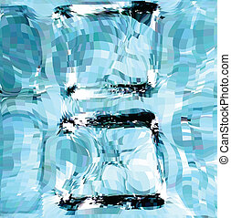 bleu, cubes., vecteur, glace, illustration