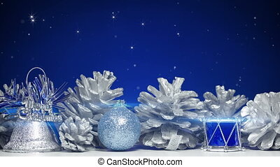 bleu, décorations noël, dos