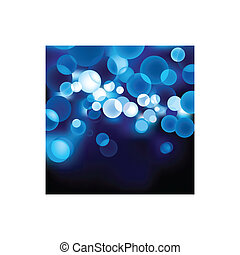 bleu, defocused, lumière