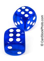 bleu, deux, dés