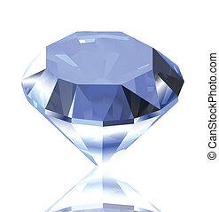 bleu, diamond., vecteur, illustration