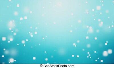 bleu, doux, célébration, fond, mouvement, boucle, particules, résumé, brillant, claean
