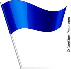 bleu, drapeau, vecteur, illustration