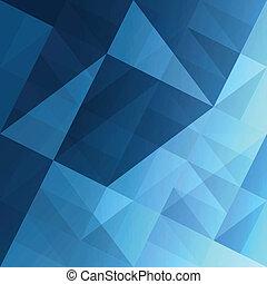 bleu, eps10, résumé, arrière-plan., vecteur, triangles