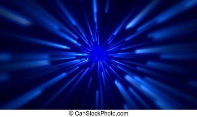 bleu, espace, rayon, champ, lumière, étoile