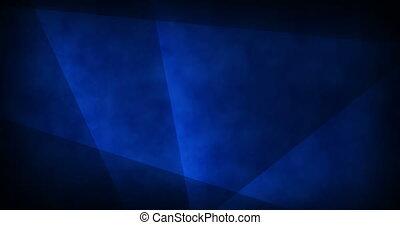 bleu, fait boucle, lignes, résumé, -, profond, incandescent, vidéo, fond, en mouvement