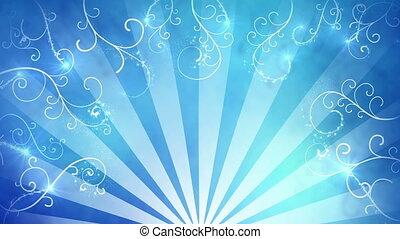 bleu, fantaisie, fond, boucle, seamless